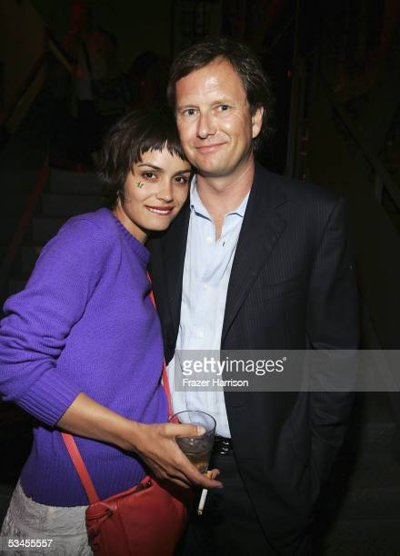 Actress Shannyn Sossamon and Michael BurnsVice Chariman of Liongate Films pose together at the Premiere Of Undiscovered After Party held at the Ivar...