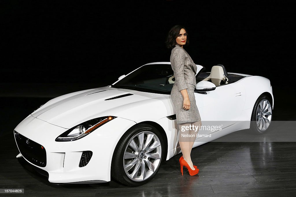Actress Shannyn Sossamon with the all-new F-TYPE at Jaguar Land Rover's exclusive event, held at Paramount Pictures Studios on November 27, 2012 in Los Angeles, California. Sossamon will be featured in an upcoming film, 'Burning Desire,' to launch the 2014 F