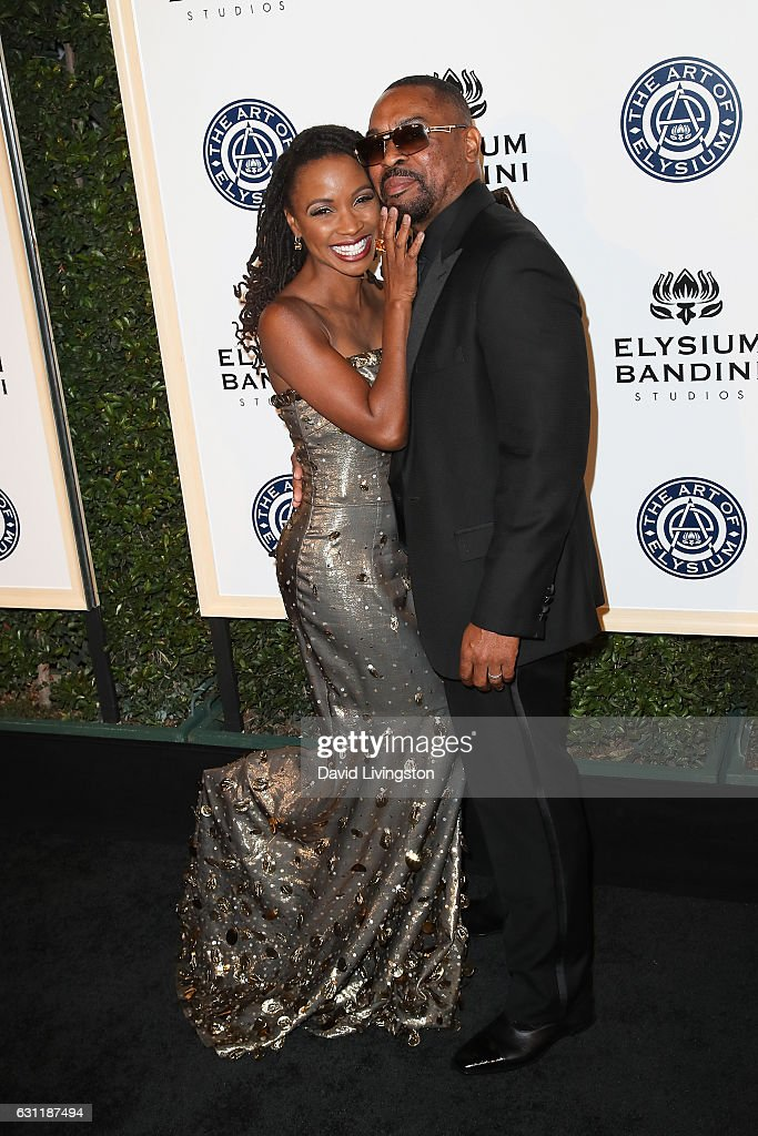 Actress Shanola Hampton and Daren Dukes arrive at The Art of Elysium presents Stevie Wonder's HEAVEN celebrating the 10th Anniversary at Red Studios on January 7, 2017 in Los Angeles, California.