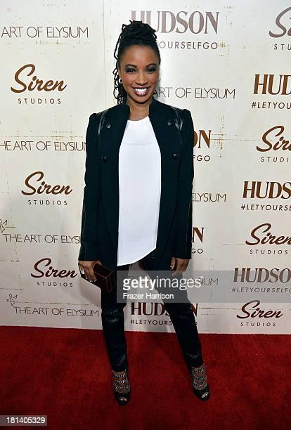 Actress Shanola Hampton arrives at Hudson Jeans Presents The Art of Elysium's Genesis Celebrating Emerging Artists at Siren Cube on September 20,...