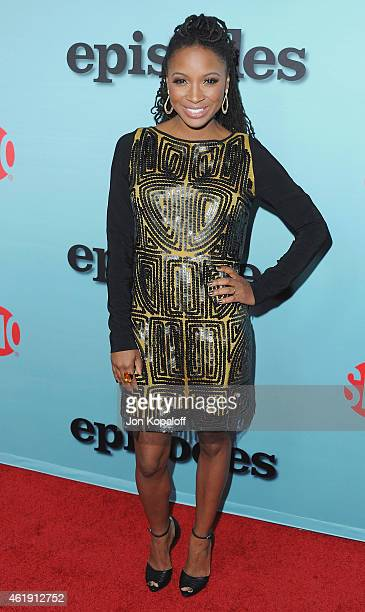 Actress Shanola Hampton arrives at Showtime Celebrates AllNew Seasons Of 'Shameless' 'House Of Lies' And 'Episodes' at Cecconi's Restaurant on...