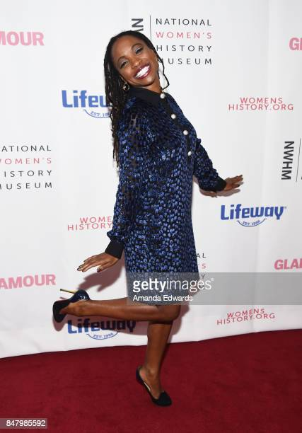 Actress Shanola Hampton arrives at the 6th Annual Women Making History Awards at The Beverly Hilton Hotel on September 16 2017 in Beverly Hills...