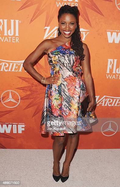 Actress Shanola Hampton arrives at the Variety And Women In Film Annual Pre-Emmy Celebration at Gracias Madre on September 18, 2015 in West...