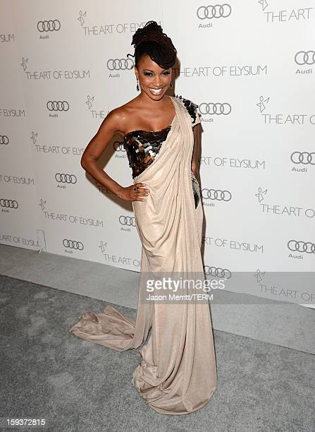 Actress Shanola Hampton attends The Art of Elysium's 6th Annual HEAVEN Gala presented by Audi at 2nd Street Tunnel on January 12 2013 in Los Angeles...