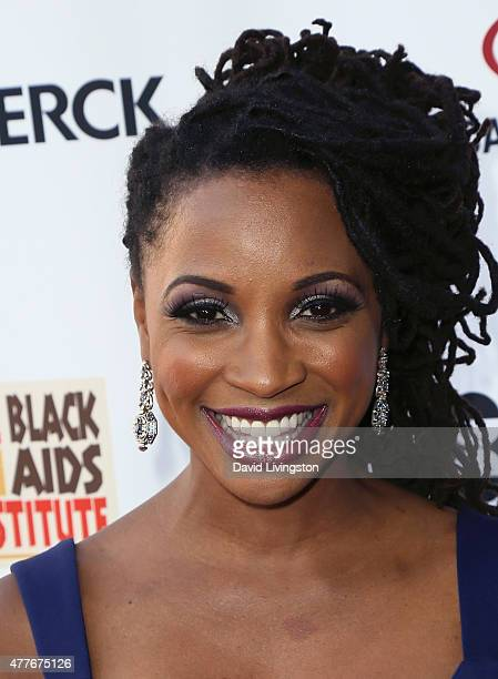 Actress Shanola Hampton attends the Black AIDS Institute 2015 Heroes in the Struggle Gala Reception and Awards Ceremony at the Directors Guild of...