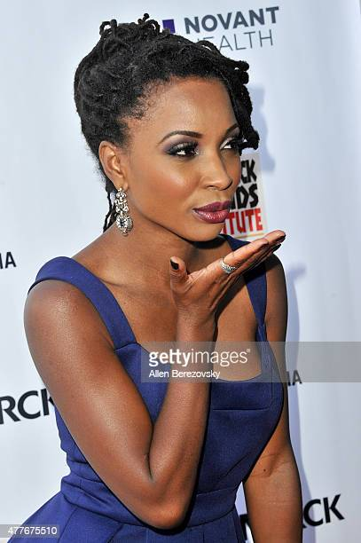 Actress Shanola Hampton attends the Black AIDS Institute 2015 Heroes in the Struggle Reception Gala and Awards Ceremony at Directors Guild Of America...