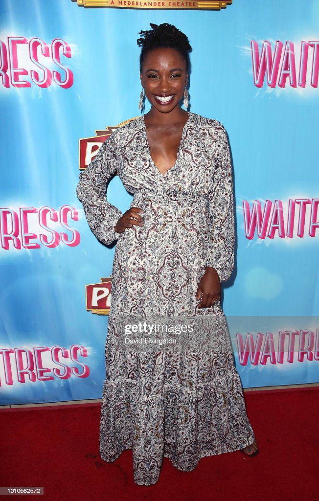 Actress Shanola Hampton attends the national tour of 'Waitress' Los Angeles engagement celebration at the Hollywood Pantages Theatre on August 3, 2018 in Hollywood, California.
