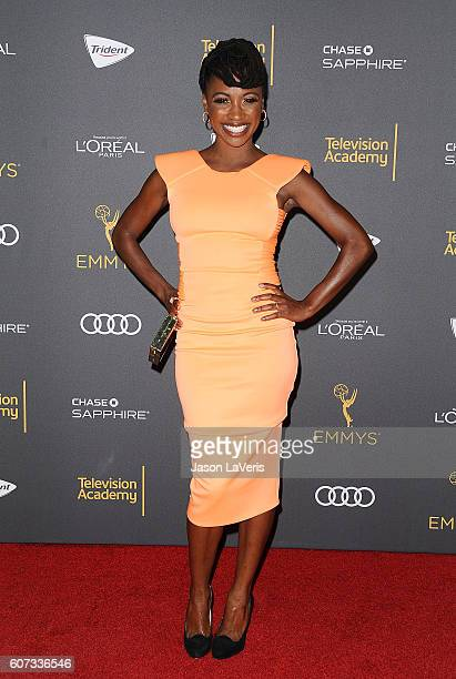 Actress Shanola Hampton attends the Television Academy reception for Emmy nominated performers at Pacific Design Center on September 16 2016 in West...