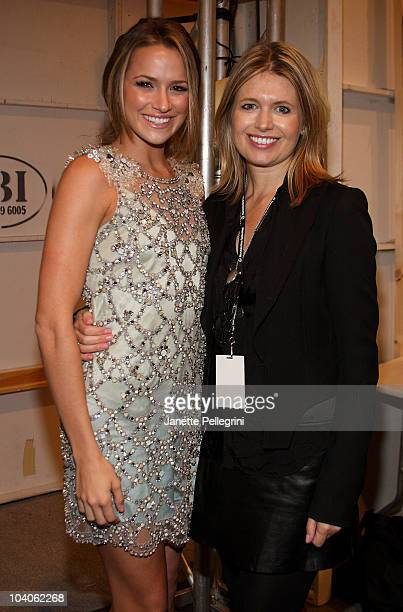 Actress Shantel VanSanten and designer Jenny Packham attend the Jenny Packham Spring 2011 fashion show during MercedesBenz Fashion Week at The Studio...