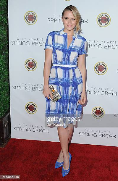 Actress Shantel VanSanten arrives at City Year Los Angeles' Spring Break Destination Education at Sony Pictures Studios on May 7 2016 in Culver City...