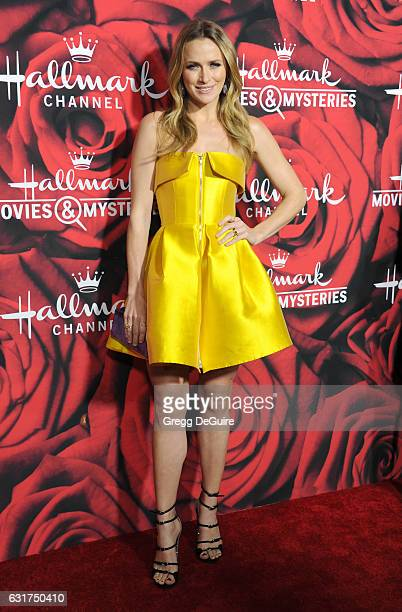 Actress Shantel VanSanten arrives at Hallmark Channel And Hallmark Movies And Mysteries Winter 2017 TCA Press Tour at The Tournament House on January...