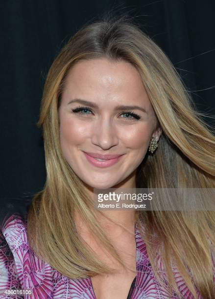 Actress Shantel VanSanten arrives to the premiere of Fox's Gang Releted at Homeboy Industries on April 21 2014 in Los Angeles California