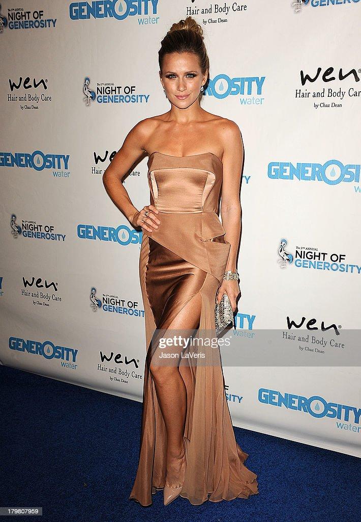 Actress Shantel VanSanten attends Generosity Water's 5th annual Night of Generosity benefit at Beverly Hills Hotel on September 6, 2013 in Beverly Hills, California.