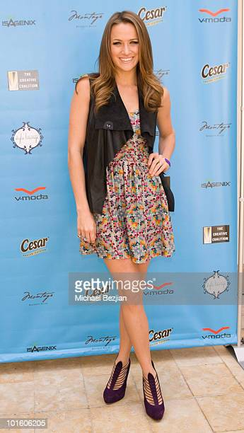 Actress Shantel VanSanten attends Kari Feinstein MTV Movie Awards Style Lounge Day 1 at Montage Beverly Hills on June 3 2010 in Beverly Hills...
