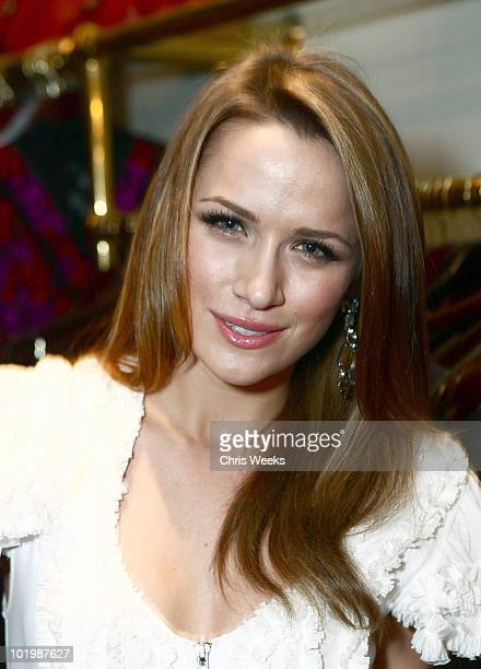 Actress Shantel VanSanten attends the Foley Corinna Melrose Avenue Event With Poshglamcom at Foley Corinna on June 9 2010 in Los Angeles California