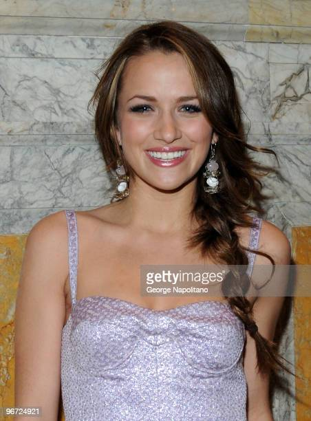 Actress Shantel Vansanten attends the Jill Stuart Fall 2010 fashion show during MercedesBenz Fashion Week at Astor Hall on February 15 2010 in New...
