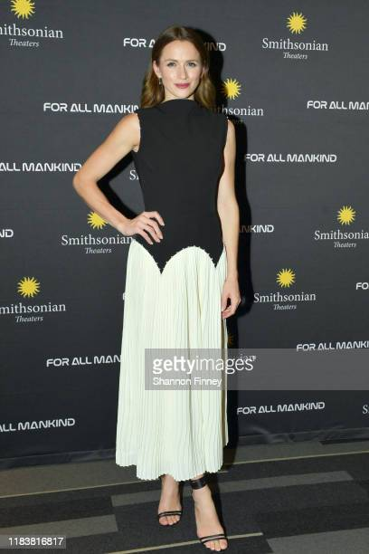Actress Shantel VanSanten attends the Washington DC premiere of For All Mankind at the Smithsonian National Air and Space Museum on October 27 2019...