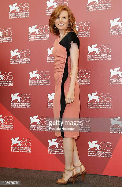 """Actress Shanyn Leigh poses at the """"4:44 Last Day On Earth"""" photocall during the 68th Venice Film Festival at Palazzo del Cinema on September 7, 2011..."""