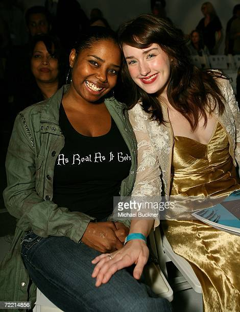 Actress Shar Jackson and Ashley Johnson pose in the front row at the Elsie Katz Couture Spring 2007 fashion show during Mercedes Benz Fashion Week...
