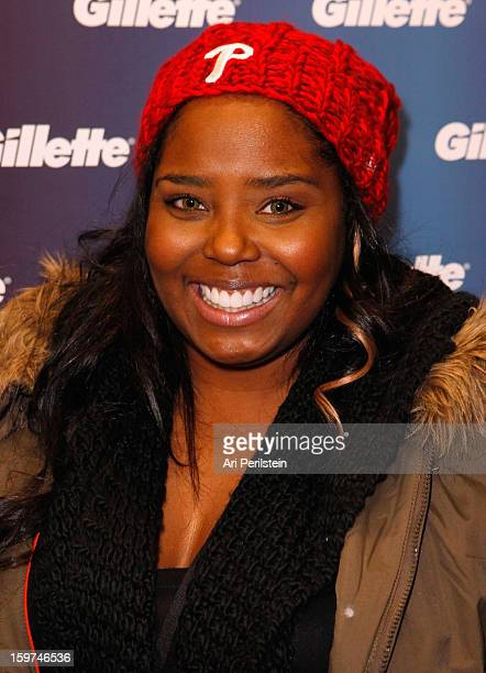 Actress Shar Jackson attends Gillette Ask Couples at Sundance to 'Kiss Tell' if They Prefer Stubble or Smooth Shaven Day 2 on January 19 2013 in Park...
