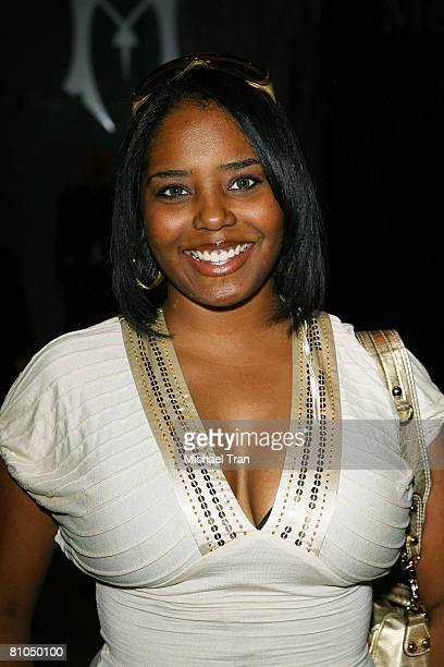 Actress Shar Jackson front row at Monarchy Collection Fall 2008 during Mercedes Benz LA Fashion Week held at Smashbox Studios on March 13, 2008 in...