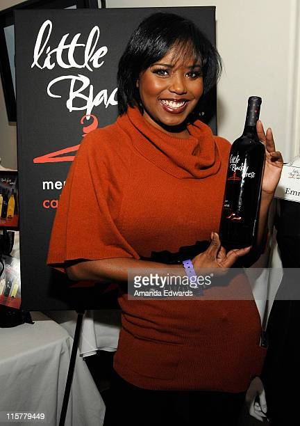 Actress Shar Jackson poses at Little Black Dress Wines at Kari Feinstein Golden Globes Style Lounge held at Zune LA on January 9, 2009 in Los...