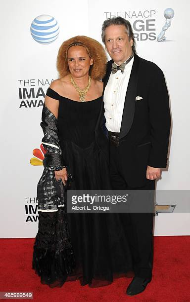 Actress Shari Belafonte and actor Sam Behrens arrive for the 44th NAACP Image Awards held at the Shrine Auditorium on February 1 2013 in Los Angeles...