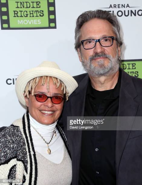 Actress Shari Belafonte and husband actor Sam Behrens attend the premiere of Indie Rights' Confessions of a Teenage Jesus Jerk at Arena Cinelounge on...