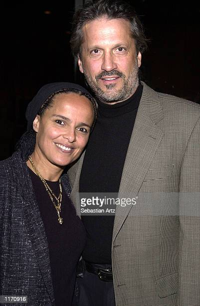 Actress Shari Belafonte arrives with her husband actor Sam Behrens at the premiere of the 40th anniversary release of the motion picture Exodus at...