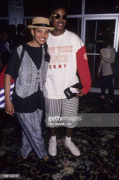 Actress Shari Headley and actorrapper Chris 'Play' Martin attend the premeire of 'Posse' on May 10 1993 at the Criterion Theater in New York City
