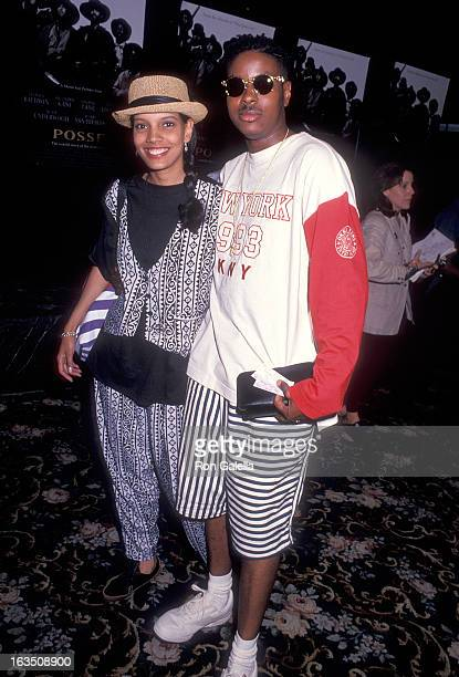 Actress Shari Headley and husband singer Christopher Martin of Kid 'n' Play attend the Posse New York City Premiere on May 10 1993 at the Criterion...
