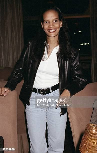 Actress Shari Headley attending Island Black Music record release party for Steve Harvey's comedy album Somewhere Down South at the Soul Cafe