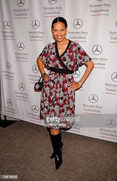 Actress Shari Headley attends Mercedes Benz Fashion Week held at Smashbox Studios on March 22 2007 in Culver City California