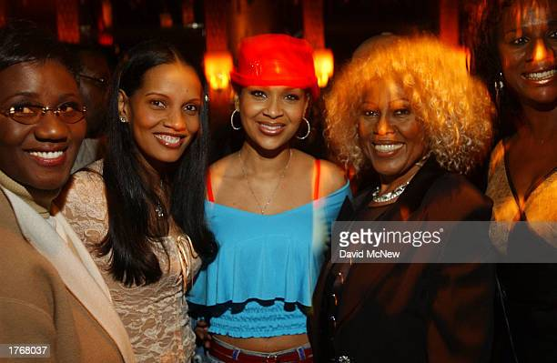Actress Shari Headley Lisaraye and clothing designer Eneva attend a party following the screening for Civil Band during the Pan African Film Arts...
