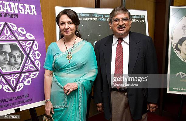 Actress Sharmila Tagore and Founding director of the Satyajit Ray Film and Study Center Collection at the University of California Santa Cruz Dilip...