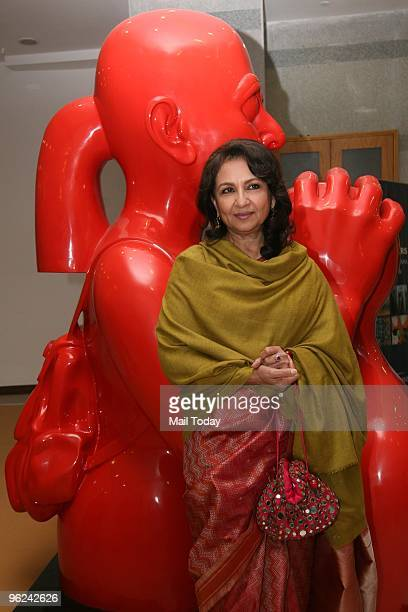 Actress Sharmila Tagore at the inauguration of the Hiran Nadar museum of art in Noida on January 23 2010