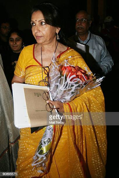 Actress Sharmila Tagore at the PSBT Open Frame Festival at the India Habitat Centre on Monday September 14 2009