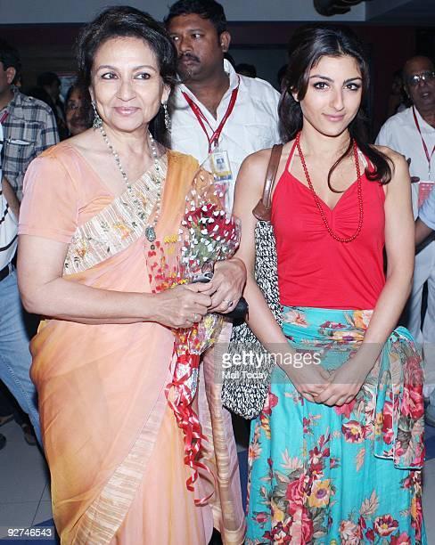 Actress Sharmila Tagore with daughter Soha at the 11th Mumbai Film Festival in Mumbai on Friday October 30 2009