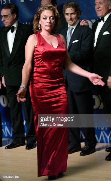 Actress Sharon Angela of The Sopranos poses in the press room at the 59th Annual Primetime Emmy Awards at the Shrine Auditorium on September 16 2007...