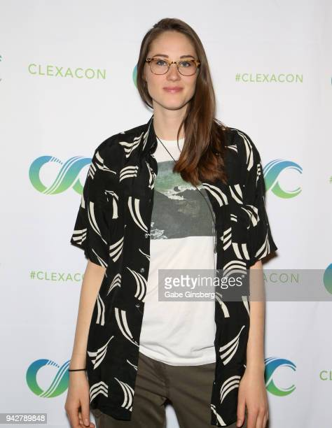 Actress Sharon Belle attends the ClexaCon 2018 convention at the Tropicana Las Vegas on April 6, 2018 in Las Vegas, Nevada.
