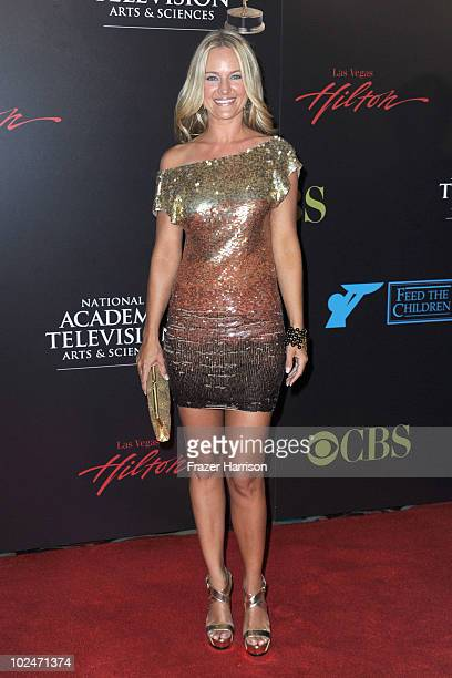 Actress Sharon Case arrives at the 37th Annual Daytime Entertainment Emmy Awards held at the Las Vegas Hilton on June 27 2010 in Las Vegas Nevada