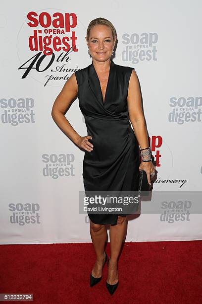 Actress Sharon Case arrives at the 40th Anniversary of the Soap Opera Digest at The Argyle on February 24 2016 in Hollywood California