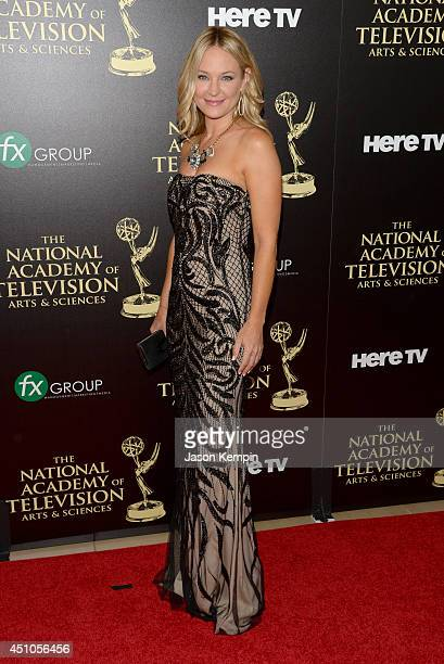 Actress Sharon Case attends The 41st Annual Daytime Emmy Awards at The Beverly Hilton Hotel on June 22 2014 in Beverly Hills California
