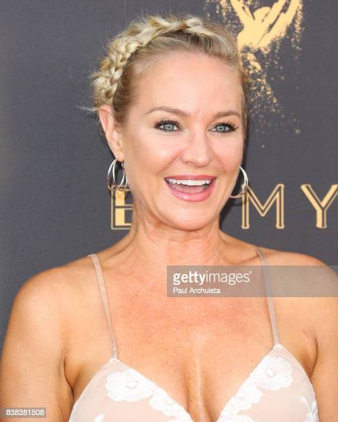 Actress Sharon Case attends the Television Academy's cocktail reception with the Stars of Daytime Television celebrating The 69th Emmy Awards at...