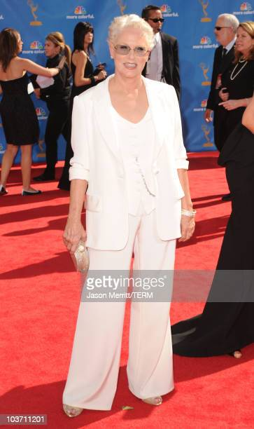 Actress Sharon Gless arrives at the 62nd Annual Primetime Emmy Awards held at the Nokia Theatre LA Live on August 29 2010 in Los Angeles California