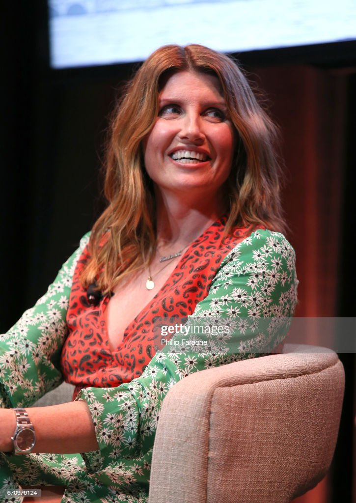 Actress Sharon Horgan speaks onstage at the Amazon Studios Emmy For Your Consideration Event at Hollywood Athletic Club on April 20, 2017 in Hollywood, California.