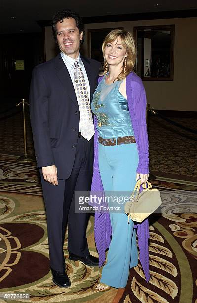 Actress Sharon Lawrence and her husband Dr Tom Apostle arrive at the 5th Annual Project ALS Benefit Gala at the Westin Century Plaza Hotel on May 6...
