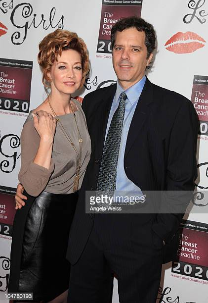 Actress Sharon Lawrence and husband Dr Tom Apostle arrive at the 10th Annual 'Les Girls' Cabaret at Avalon Hollywood on October 4 2010 in Hollywood...