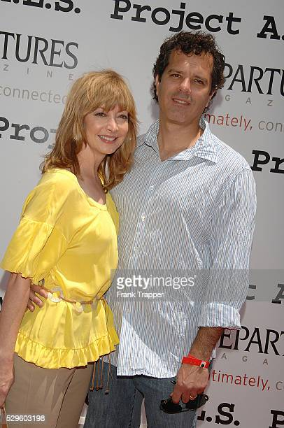 Actress Sharon Lawrence and husband Dr Tom Apostle arrive at the 6th annual Project ALS benefit held on the New York Street back lot at Paramount...