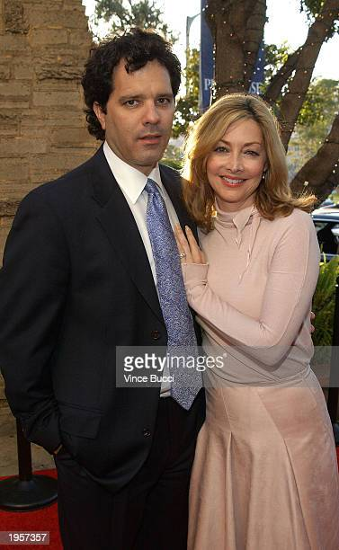 Actress Sharon Lawrence and husband Dr Tom Apostle attend Backstage At The Geffen second annual fundraising gala at the Geffen Playhouse on April 28...